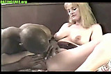 Interracial hot fucking pretty blonde amateur milf