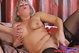 Mature Russian cougar fucked by sextoy part 2 of 2