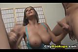 Hot Busty Brunette Babe Sara Stone Jerks Off Two Hard C