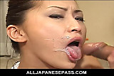 No Sound: Japanese goddess in white on her knees suckin