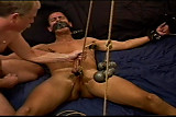 CBT Young muscular stud ball stretching session