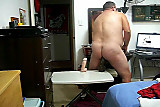 No Sound: Married man fucks ass with dildos