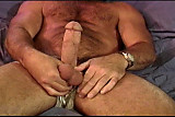 No Sound: Ball self punishment session with a beefy mus