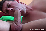 Young blonde dude sucking cock