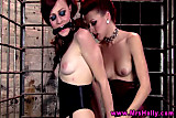 Hollis Ireland and Miss Crash lezdom action