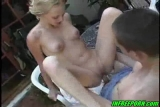 Blonde 18 Years Old Teen Fucking Outdoor In Garden