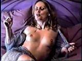 Smoking Fetish - Angela smokes and strips