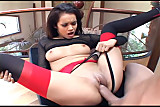 Daisy fucking in thigh high stockings and panties