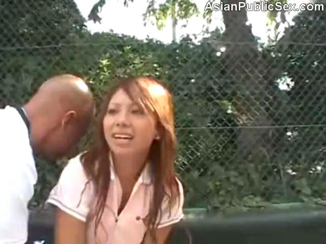 Asian Tennis Court Public Sex