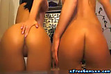 No Sound: Two Girls Playing With Webcam