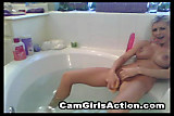 Cam: Cam girl action in the bath