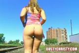 Busty Christy - Train Yard Masturbation - Part 1
