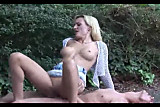 Hot Blond fucked in parking lot