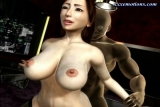 Animated milf with stockings gets penetrated
