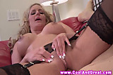 Hot blonde MILF bouncing on cock