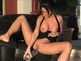 Piss Slut Samira pees on Dildo and smokes