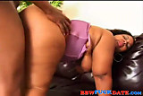 Ebony with fat ass get fucked hard by BBC