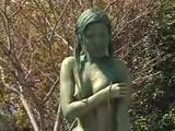 Public Painted Statue Fuck