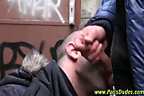 Public cock for amateur french hunk