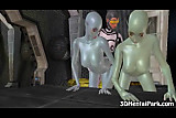 Two toon alien babes get fucked by a shemale
