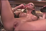 Blonde Masturbating Squirting Pussy