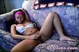 ebony girl masturbates