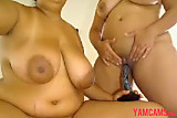 No Sound: Two sexy big tits columbian BBWs
